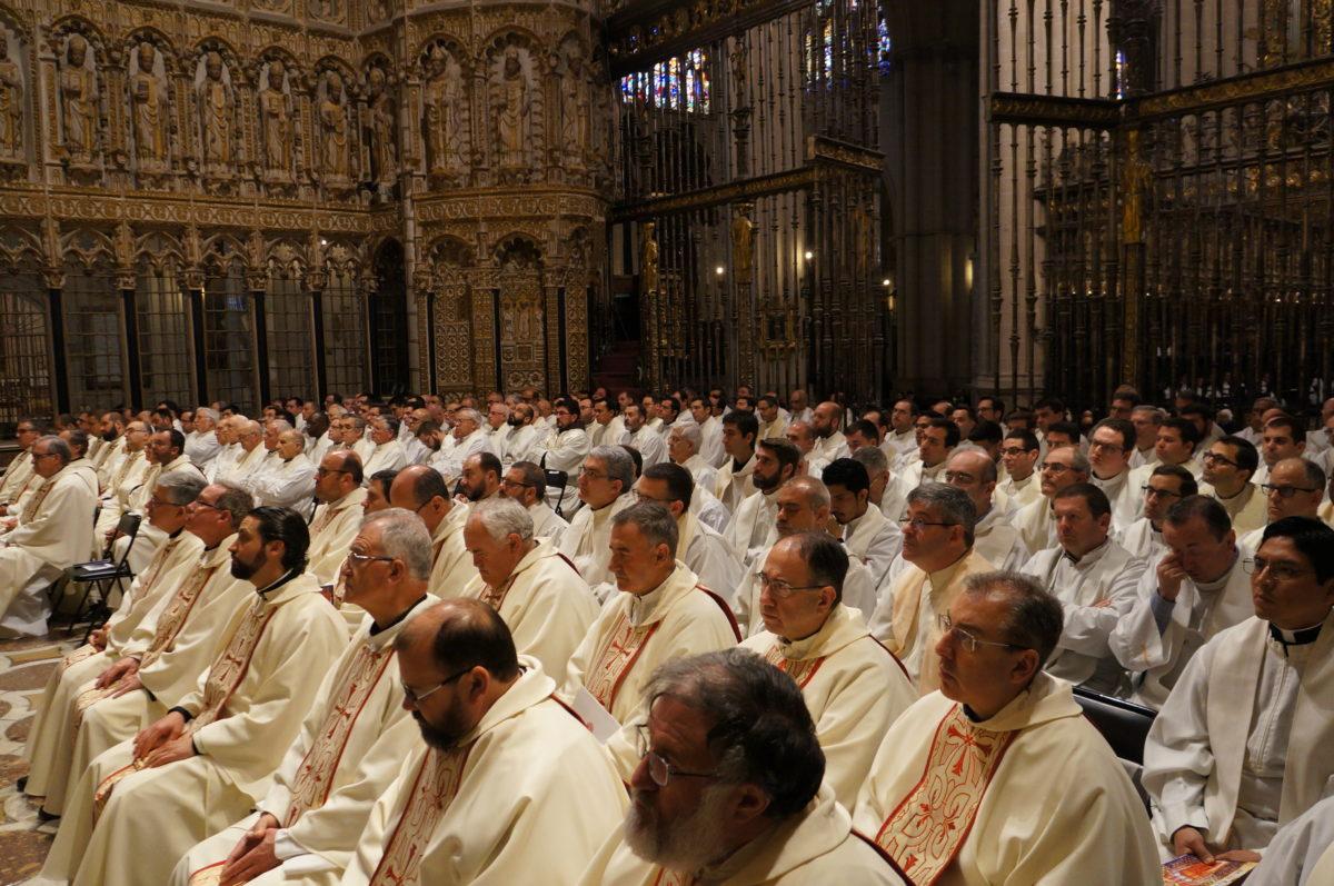 Curas de Toledo, en la misa crismal