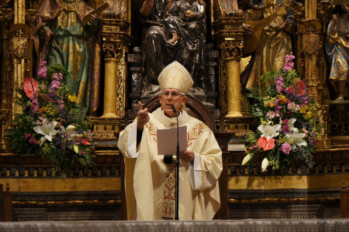 Braulio Rodríguez, durante la Misa Crismal